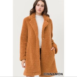 Teddy Bear Coat - Cinnamon